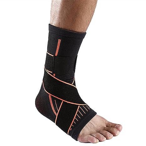 SOFIT Tutore Caviglia, Fascia di Sostegno per Fitness, Pallacanestro, Tennis, Supporto Antiscivolo alla Caviglia Super Traspirante Elastico Supporto