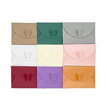 Zhi Jin 100 Pcs Mini Papillon Lettre Enveloppes Pour Cartes De Visite Carte Voeux
