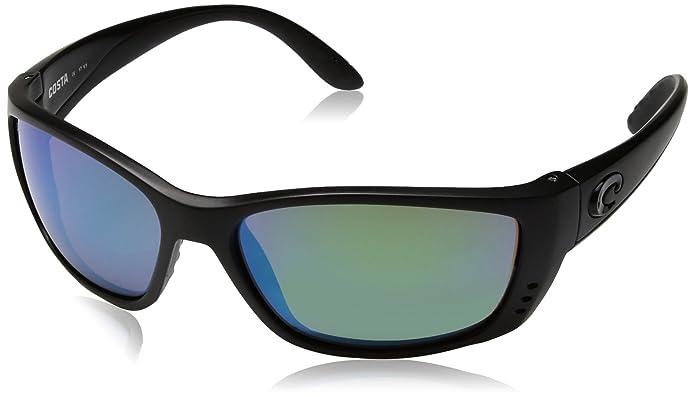 255e415d35 Amazon.com  Costa Del Mar Fisch Sunglasses Black Green Mirror 580Plastic   Sports   Outdoors