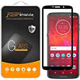 [2-Pack] Supershieldz for Motorola Moto Z3 / Z3 Play Tempered Glass Screen Protector, [Full Screen Coverage] Anti-Scratch, Bubble Free, Lifetime Replacement Warranty (Black)