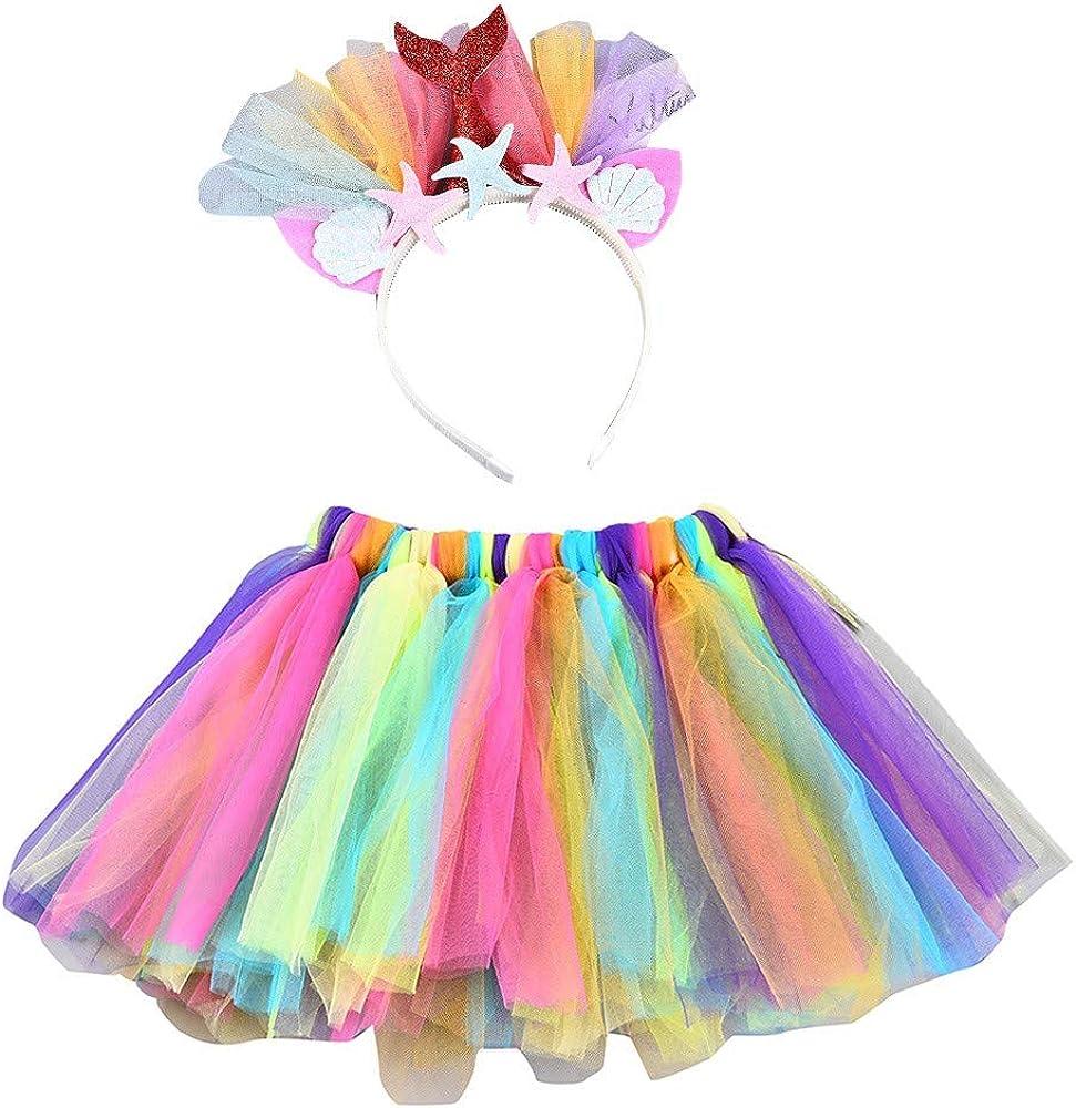 QinMM Falda de Ballet + Diadema con Cola de pez para niña bebé 0-8 ...