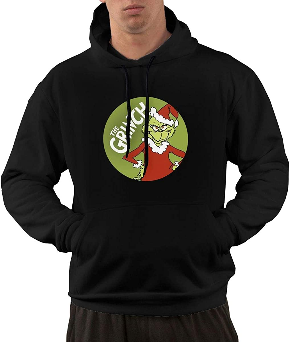 Hooded Sweater Sweatshirt for Mens 8 Wokeyia Black Warm The Grinch