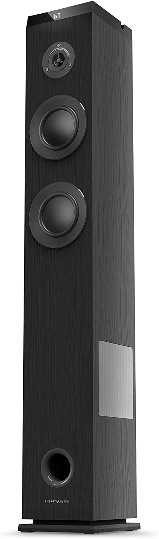 Energy Tower 5 g2 (65 W, Bluetooth 5.0, True Wireless Stereo, Radio FM, USB/MicroSD MP3 Player, Audio-In)-Negro