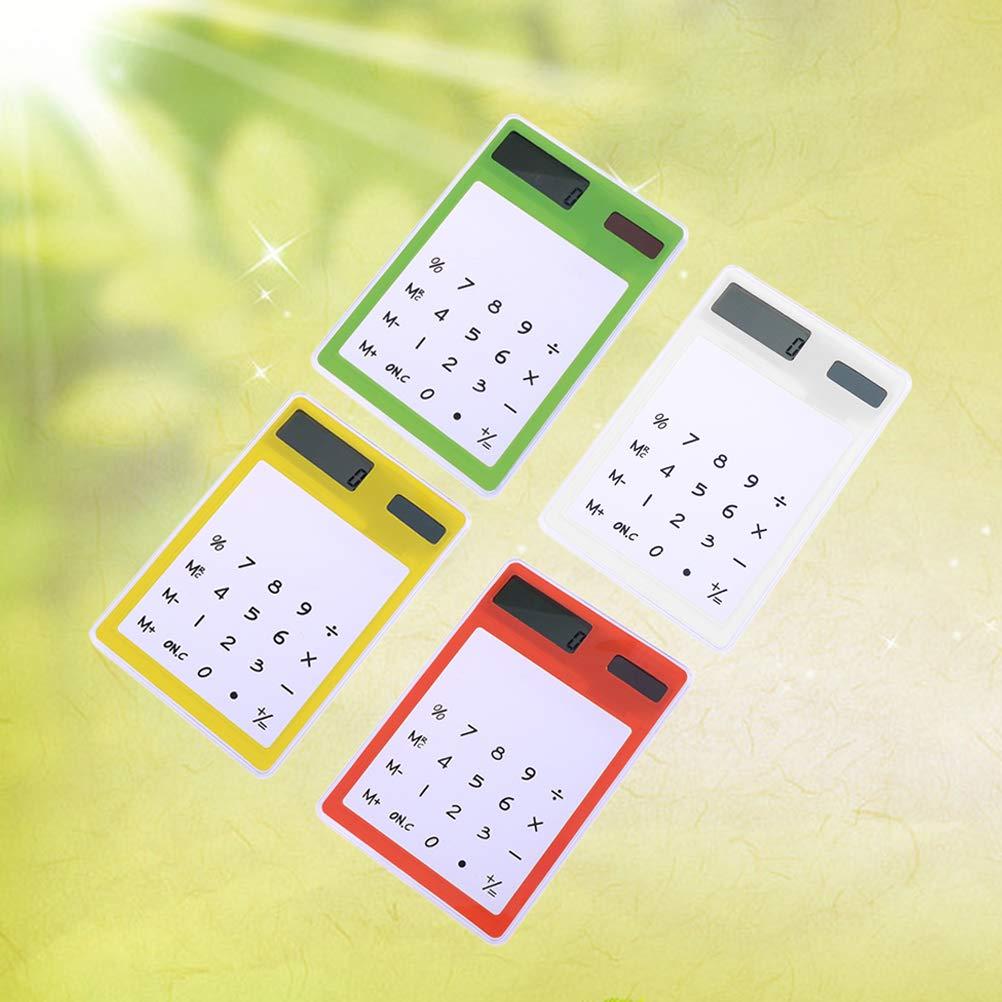 Toyvian Calcolatrice Solare Trasparente Tascabile con LCD Schermo