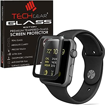 sale retailer 0d4d0 1675b TECHGEAR Screen Protector fits Apple Watch Series 3: Amazon.co.uk ...