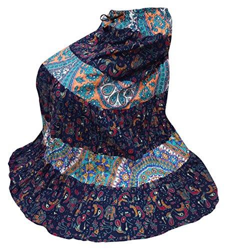 5736be4aba31 ... Indian Bollywood Frauen Lange Rock Baumwolle Gedruckt Lässig Tragen  Sommer Mode Rock rDDu0BnDQ ...