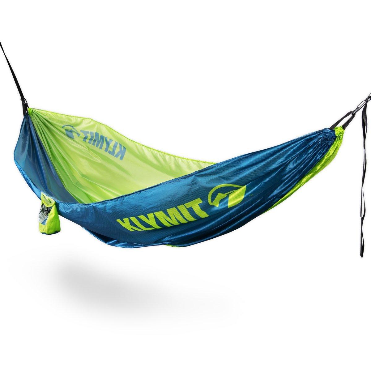 Klymit Aufblasbare Outdoor Campingmatte Luftmatratze Traverse Hängematte mit Baum Gurte (Neu für 2018), Blau/Grün, Doppelte