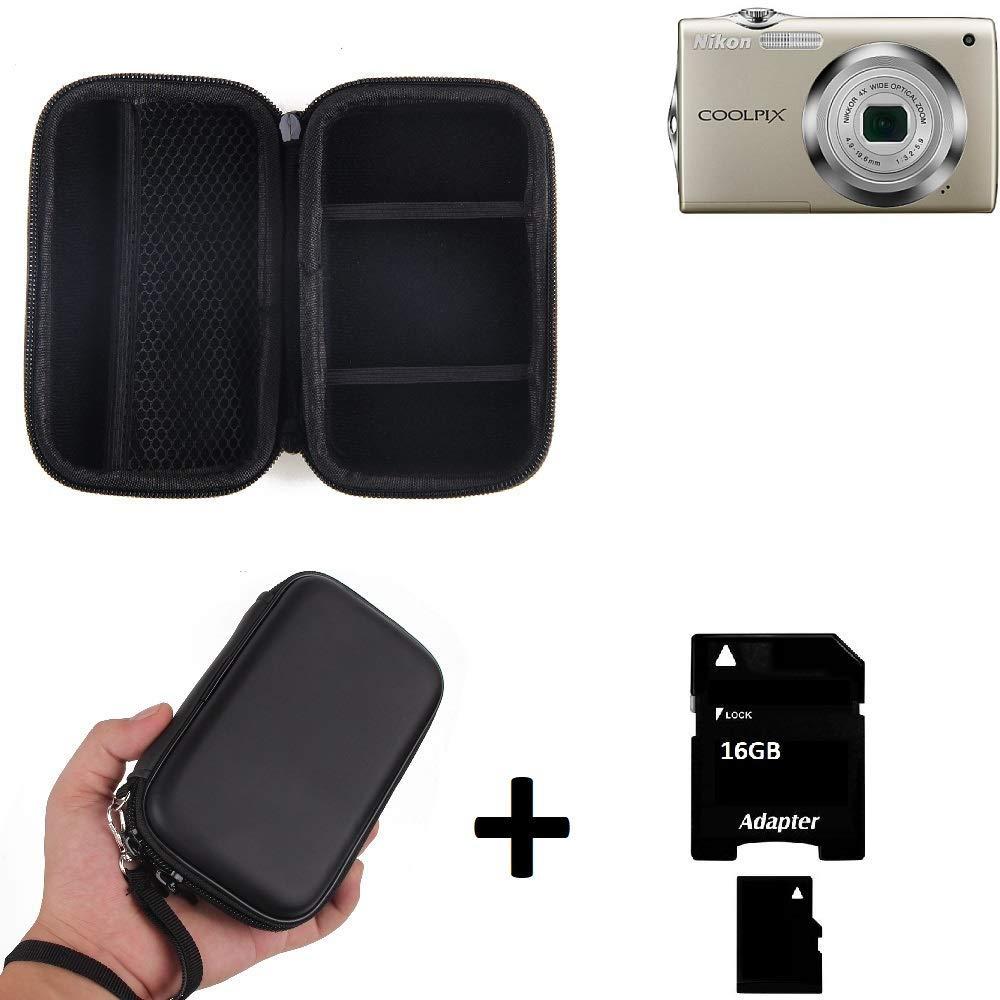K-S-Trade® Caso Duro, Estuche para Cámara Compacta Nikon Coolpix S3000, Bolsa, Prueba del Choque + 16GB Memoria: Amazon.es: Electrónica