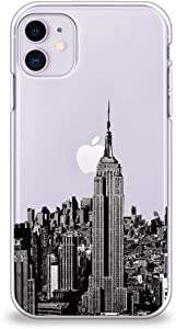 """CasesByLorraine Compatible with iPhone 11 Case, NYC New York City Clear Transparent Flexible TPU Soft Gel Protective Cover for iPhone 11 6.1"""" (2019)"""