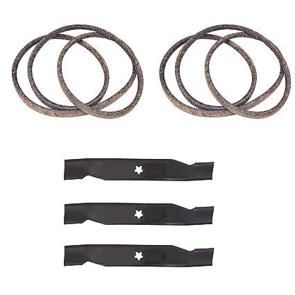 Amazon.com: Cuchillas y cinturones para cortacésped de 48.0 ...