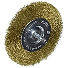 Vermont American 16794 4-Inch Fine Brass Wire Wheel Brush with 1/4-Inch Hex Shank for Drill by Vermont American
