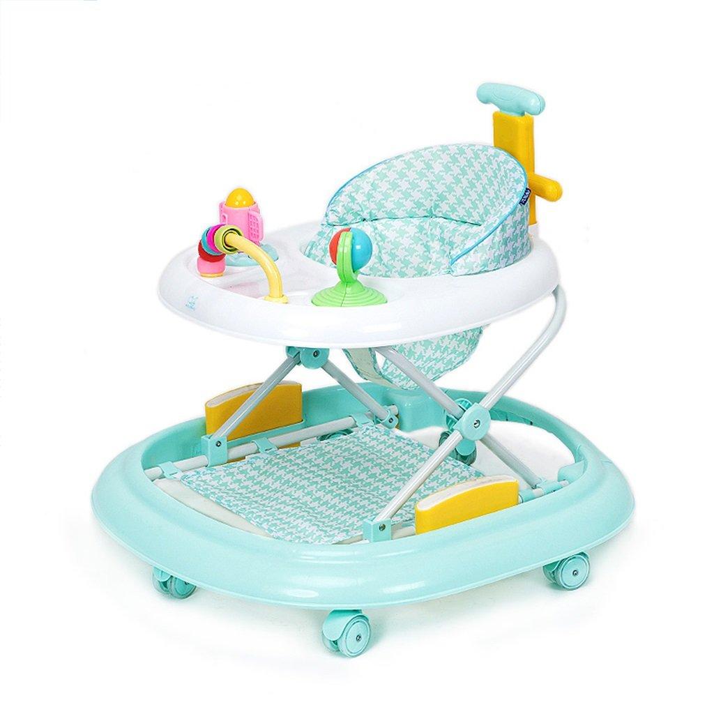 HAIZHEN マウンテンバイク ベビーウォーカー6/7-18ヶ月赤ちゃんアンチロールオーバー多機能ハンドプッシュは、折りたたみ可能な3つの高さ調整可能なベビーキャリッジに座ることができます66 * 71 * 62センチメートル 新生児 B07DMNM73K 緑 緑