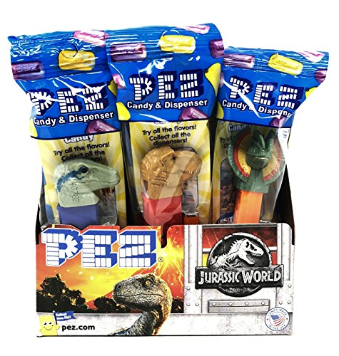 (Pez Candy Jurassic World Fallen Kingdom Candy Dispensers - Individually Wrapped - Great for Party Favors and Pez Collector's (12)