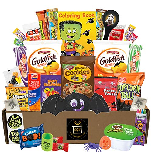 Lots Of Halloween Candy (Halloween Snack Pack - Campus Care Package - Great For College, Kid, Adult, Student, Teens, Families - Includes Lots Of Treats Candy And Snacks (Halloween Creature Care Package - Large)
