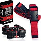 Dumbbell Transport Travel Straps – Compatible with Bowflex SelectTech 552 Adjustable Dumbbells with Fitness Dial - Cradle Base to Dumbbell – for Carry and Storage