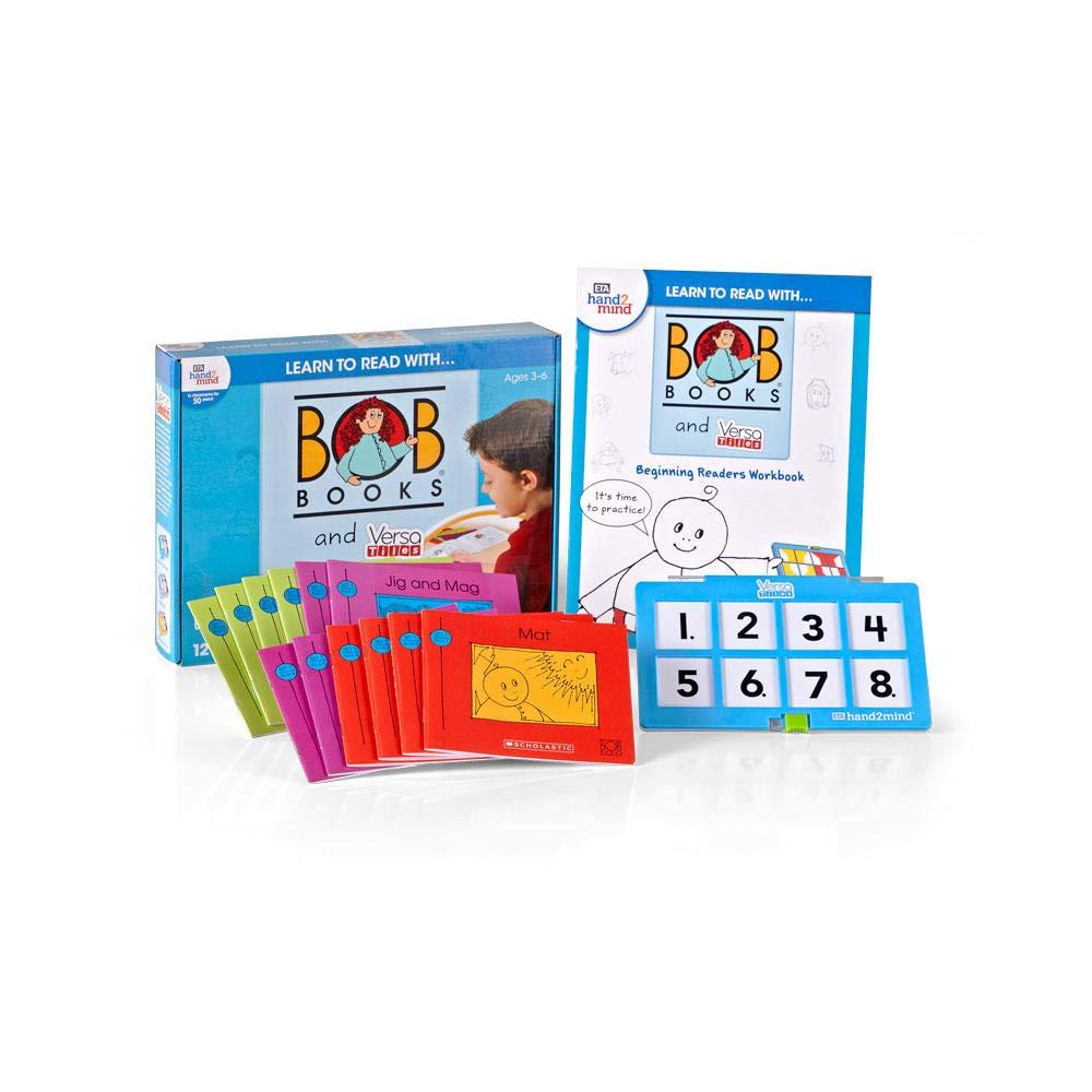 hand2mind Learn To Read With BOB Books & VersaTiles Beginning Readers Set, Homeschooling Books For Kids Ages 4-6, 12 BOB Books, 20 Activity Workbook & Answer Case, Homeschool Preschool, Award-Winning 61qV5pCMWHL