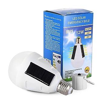 De 12w LedLampe Solaire SecoursLed Panneau Ampoule SMzVUp