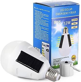 2Pcs Solar Power Panel LED Camping Lantern Tent Light Bulb Outdoor Garden Lamp