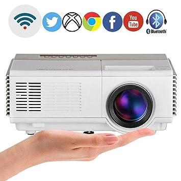 edfb83d9f8 小型 プロジェクター Wi-Fi 1080PフルHD 2500ルーメン iPhone/Android対応 ワイヤレス ミラーリング