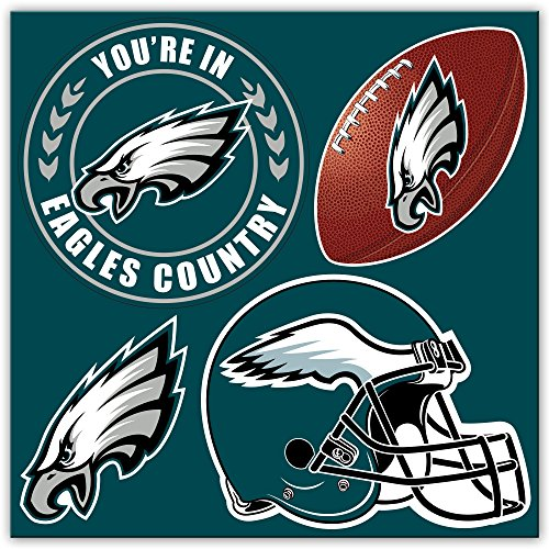 NFL Philadelphia Eagles 4-Piece Magnet Set, Green,