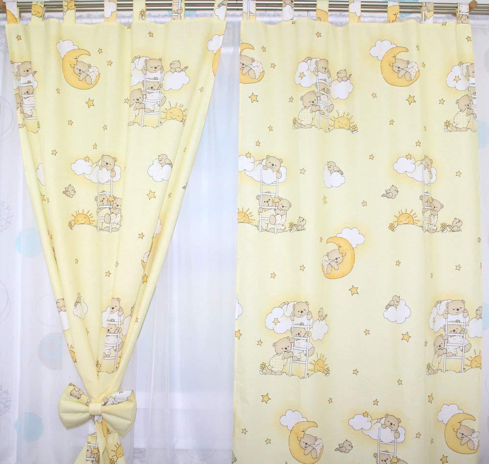 Vorh/änge mit Schlaufen f/ür Baby Kinder Kinderzimmer Safari Eule Sterne D1