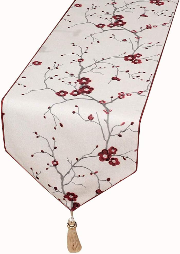 Branfan Chemin de Table sp/écial sud-est Asiatique Chemin de Table en Coton Chinois /à Double Couche de Nappe Longue Couche Longue Nappe Longue Nappe-2/_33x200cm