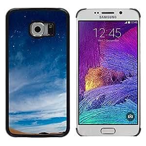 Bendito calma Terrenal - Metal de aluminio y de plástico duro Caja del teléfono - Negro - Samsung Galaxy S6 EDGE (NOT S6)