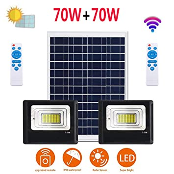 Zwhl Solar Proyectores, Super Brillante Impermeable Alta Potencia ...