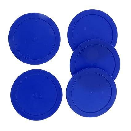 Farben und Gr/ö/ßen W/ählbar 62mm MagiDeal 5pcs Air Hockey Rund Pucks Blau