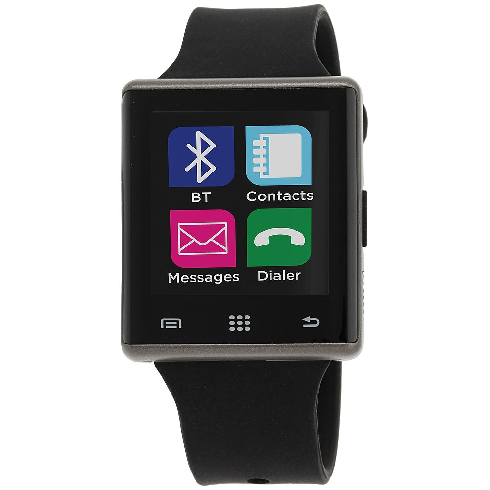I-Touch Air Smart Watch Screen Bluetooth with Pedometer Analysis Sleep Monitoring Band for Samsung Galaxy Android Apple iPhone iOS Google Nexus Smartphone (BLACK/BLACK, 41mm) by I-Touch