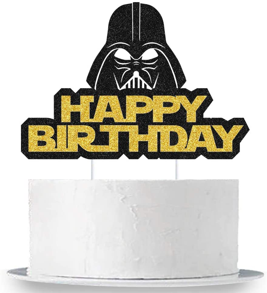 Alien War Darth Vader Happy Birthday Cake Topper Alien War Cake Decorations