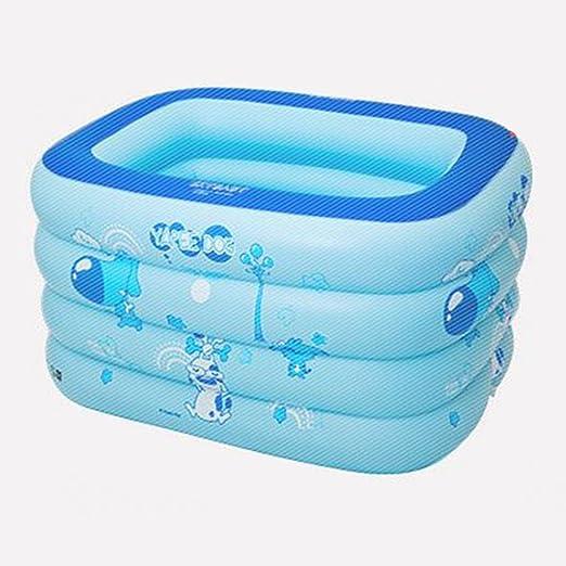 LYM & bañera Plegable Bebé Gran Cuadrado Piscina Inflado Muy ...