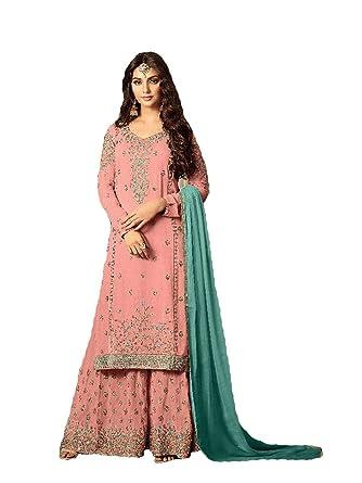 0fbfabe487 Amazon.com: Range Of India Women Salwar Suit with Duppata Special Vishal  Fashion Designer Salwar Suit: Clothing