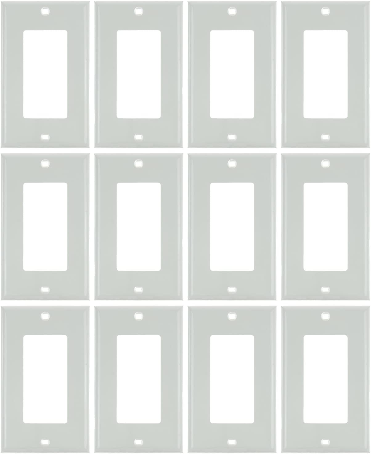 Sunlite 50702-SU E301//A 1 Gang Decorative Switch and Receptacle Plate Almond