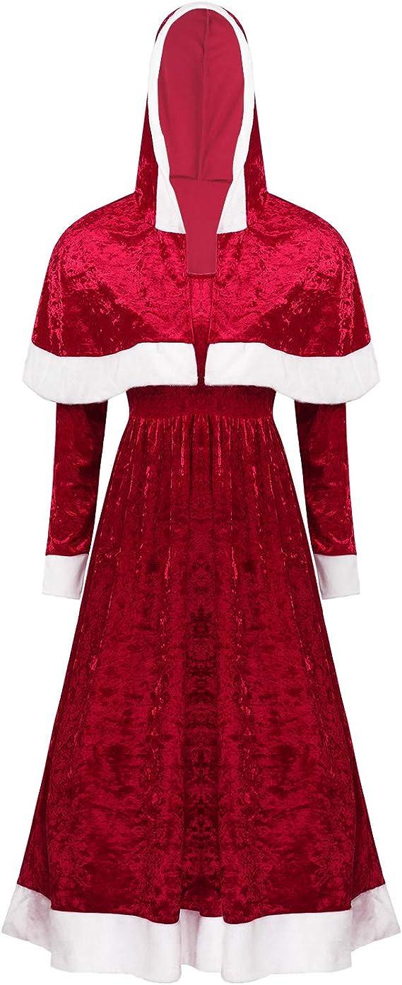 Alvivi Disfraz Mama Noel Mujer de Fiesta Navidad Vestido ...