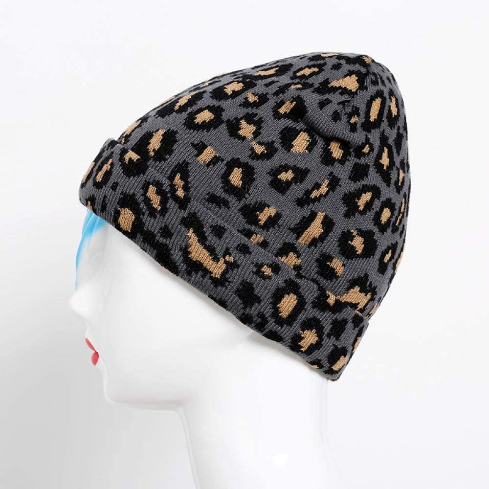 Sombrero de Punto de Lana de Leopardo de Moda para Mujer Sombrero ...