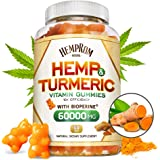 Hēmp Gummiēs with Turmeric & Bioperine 60000MG Hēmp Gummy for Pain and Stress Relief, Premium Healthy Inflammatory…