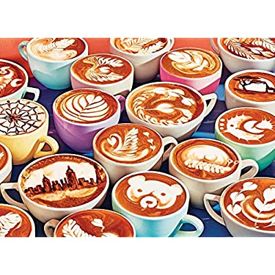 Cobble Hill Puzzles BaristArt 1000 Piece Food & Drink Jigsaw Puzzle: Toys & Games