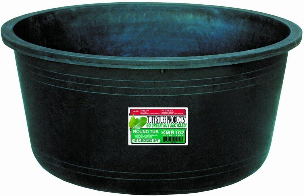 Tuff Stuff Products KMB102 Circular Tub, 37-Gallon