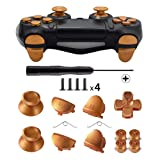 TOMSIN Metal Buttons for DualShock 4, Aluminum