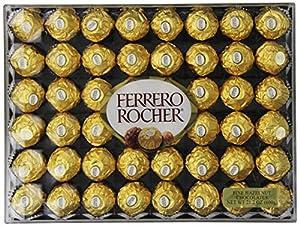 Ferrero Rocher Chocolate, Flat, 48 Count