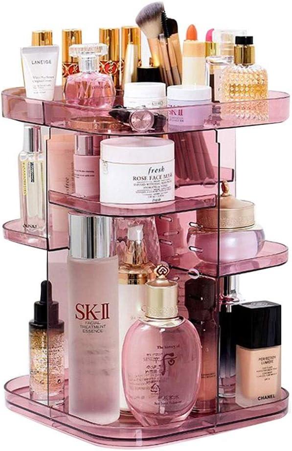 ZCM Bathroom Organizador de Maquillaje 360º Liso Spinning Acrílico Resistente, Estuche de exhibición de Almacenamiento cosmético, Adecuado for tocadores, dormitorios, baños: Amazon.es: Hogar