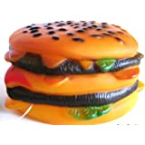 DOG TOY SQUEAKY Burger Pet Cheeseburger Food Vinyl BRAND NEW by Pet Shoppe