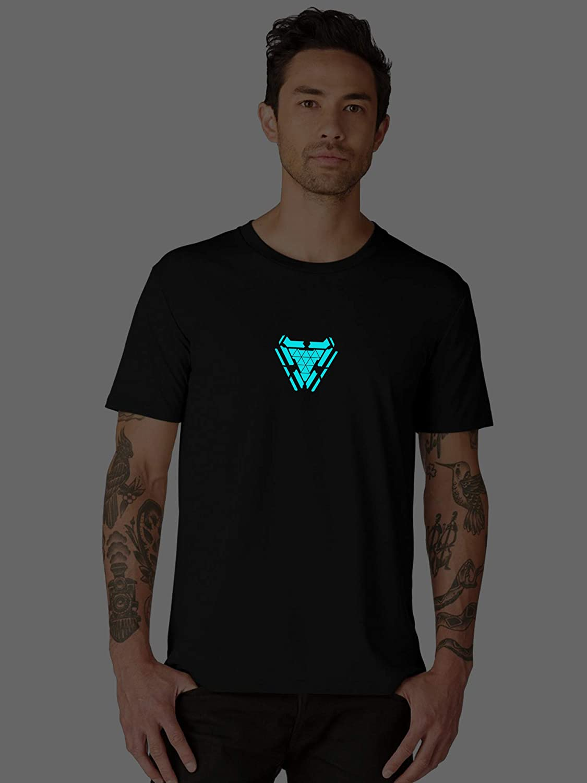 77e78ae3 bluehaaat Glow in Dark Iron Man Arc Reactor Tshirt    Men & Women Unisex T- Shirt    Full Sleeves & Half Sleeves: Amazon.in: Clothing & Accessories