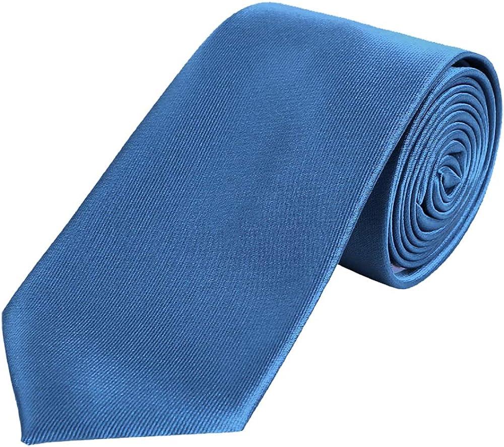 DonDon hombres corbata 7 cm business professional classica hecho a mano azul para la oficina o eventos festivos: Amazon.es: Ropa y accesorios