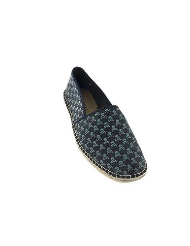 Alpargata Scalpers Skull Espadrille 01 Azul: Amazon.es: Zapatos y complementos