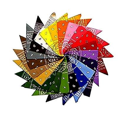 4b8f88c6595a Lot de 12 nbsp bandanas motif cachemire 100 nbsp % coton, 12 nbsp couleurs