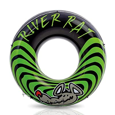 Intex 68209E River Rat Inflatable 48 Inch Lake Towable Floating Tube, Green: Toys & Games