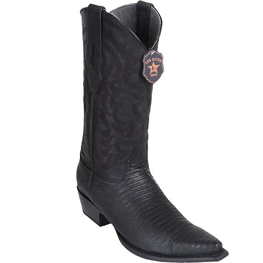 Original Greasy Finish Black Lizard Teju Skin Snip-Toe Boot