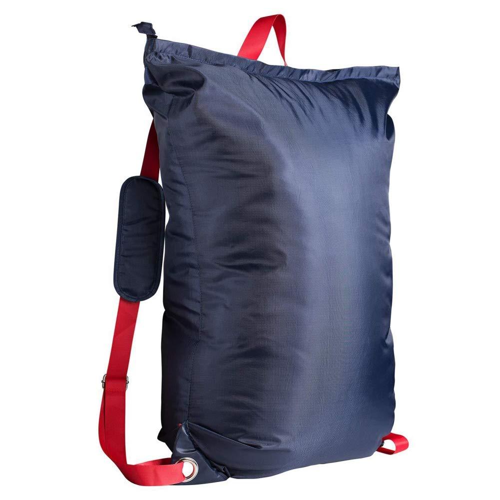 WAINEO Mochila grande de lavander/ía con cremallera y 2 correas de hombro Bolsa de almacenamiento de ropa sucia para estudiante universitario Bolsa de playa